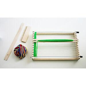 webrahmen set mit wolle aus holz kinderwebrahmen kiga weben basteln kinder ovp ebay. Black Bedroom Furniture Sets. Home Design Ideas