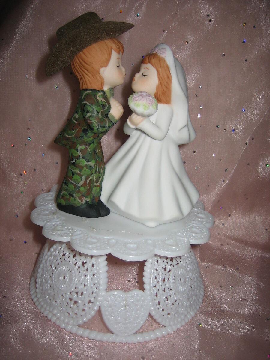 Wedding Cowboy Hat Camo Hunter Hunting Cake Topper