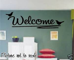 WELCOME BIRDS ON A BRANCH wall decal PERFECT HOME DECOR in Home & Garden, Home Decor, Decals, Stickers & Vinyl Art | eBay