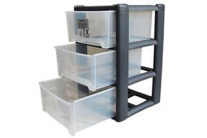 wham rollwagen 3 schubladen regal schubladenschrank rollcontainer arbeitswagen ebay. Black Bedroom Furniture Sets. Home Design Ideas