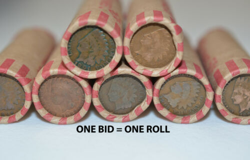 WHEAT PENNY SHOTGUN ROLL W/ INDIAN HEAD CENT ENDS UNSEARCHED OLD USA COINS LOT in Coins & Paper Money, Coins: US, Collections, Lots | eBay