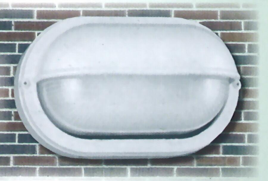 WHITE CAST ALUMINUM EXTERIOR WALL LIGHT FIXTURE *NIB*