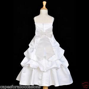 White Flower Girl Dresses Size 16 19