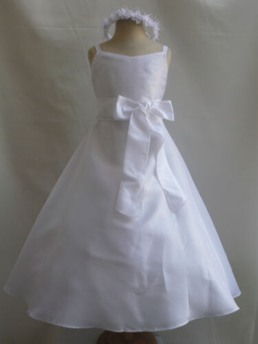 WHITE PAGEANT BRIDESMAID PARTY FLOWER GIRL RESS 18-24M 2T 2 3T 4 5 6 8 10 12 14 in Clothing, Shoes & Accessories, Wedding & Formal Occasion, Girls' Formal Occasion | eBay