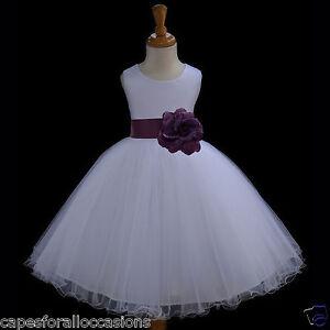 White Flower Girl Dresses 6x 56