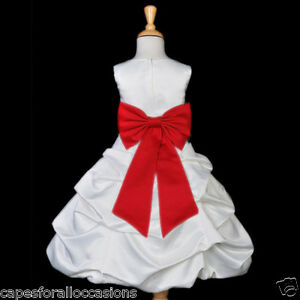 Party Dress on White Red Quinceanera Party Pageant Flower Girl Dress 2 4 5t 6 7 8 9