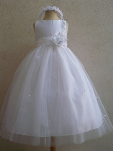 WHITE ROSE BUD COLOR INFANT TODDLER WEDDING PAGEANT PARTY GOWN FLOWER GIRL DRESS in Clothing, Shoes & Accessories, Wedding & Formal Occasion, Girls' Formal Occasion | eBay