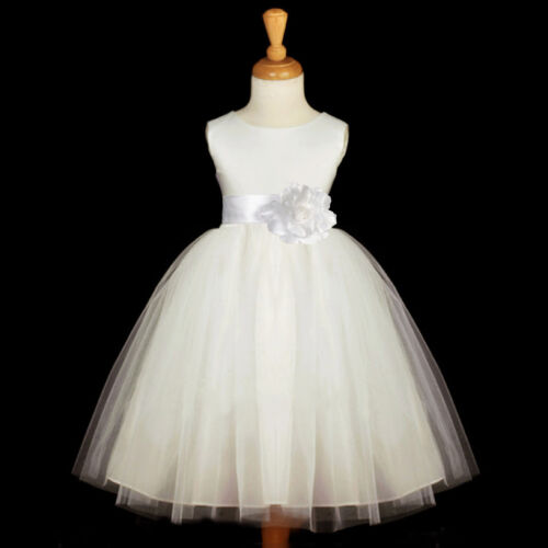 WHITE WEDDING BRIDAL PAGEANT KIDS FLOWER GIRL DRESS 12M-18M 2 3 4 5 5T 6 7 8 10 in Clothing, Shoes & Accessories, Wedding & Formal Occasion, Girls' Formal Occasion | eBay