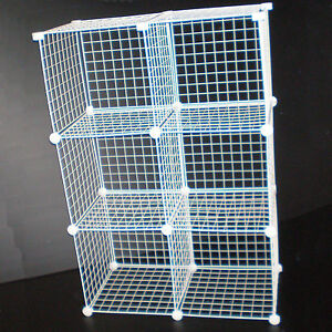 white wire mesh cube modular storage unit universal fit. Black Bedroom Furniture Sets. Home Design Ideas