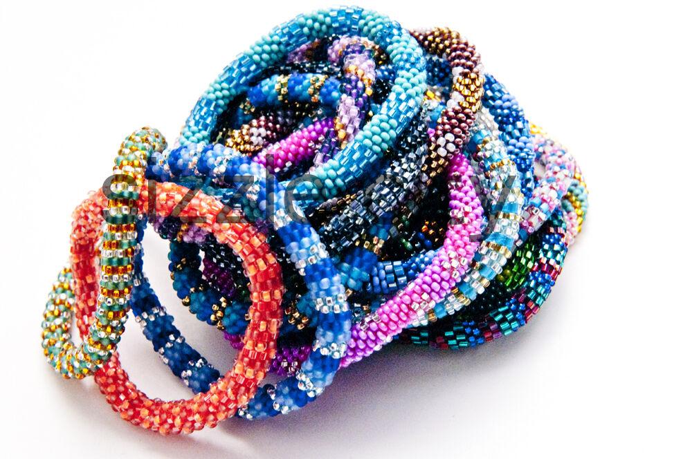 single nepal glass beaded bracelet made in nepal