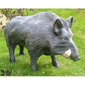 Wildschwein keiler gro stehend garten deko figur wild for Deko garten tiere