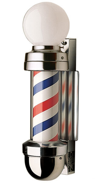 ... WILLIAM MARVY CO. #410 TRADITIONAL 2- LIGHT BARBER POLE, THE ORIGINAL