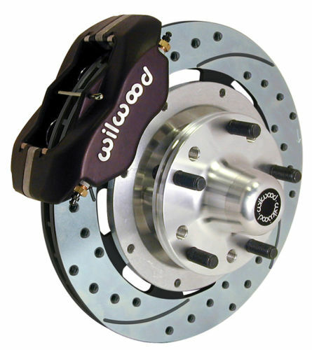 "Wilwood Disc Brake Kit Front 79 81 Camaro 12 19"" Drilled Rotors Black Calipers"