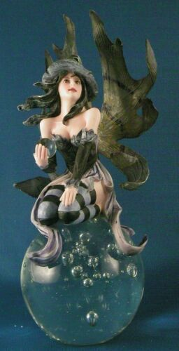WITCH FAIRY FIGURINE on Glass Ball Halloween Faeries Fantasy Angel Crystal NEW in Collectibles, Fantasy, Mythical & Magic, Fairies | eBay