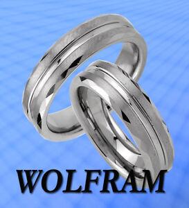 WOLFRAM RINGE TUNGSTEN TITAN TRAURINGE EHERINGE Gravur Gratis - JW2 ...