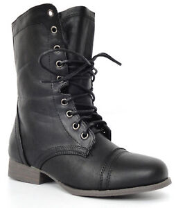 Lastest Black Combat Boots 8 Inch Military Boots  Womens Size 7  Men39s SIze