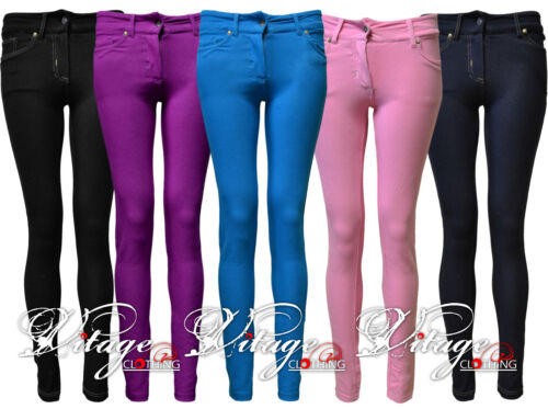 WOMENS LADIES COLORED SKINNY FIT JEANS LEGGING JEGGINGS STRECHY TROUSERS 8-14