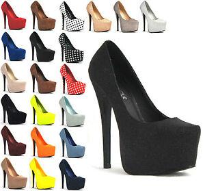 womens platform stiletto heel high heel shoes