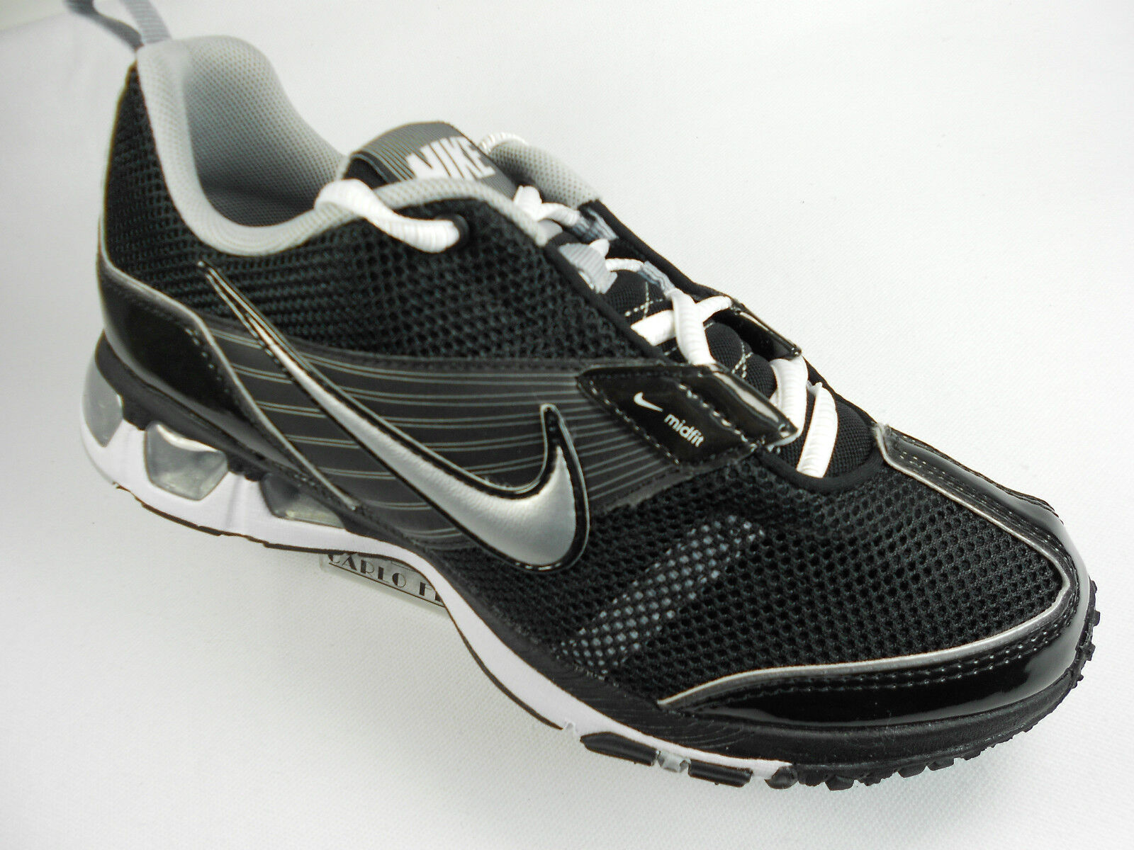 869484bce2 WOMENS NIKE AIR MAX MOTIVATE BLACK/SILVER RUNNING SHOES 076783016996 ...
