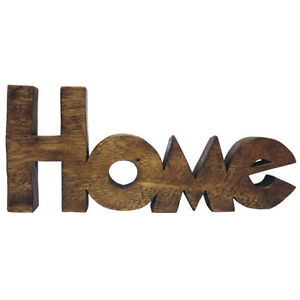 Word art home letters sculpture ornament solid acacia wood for Furniture 5 letters word whizzle