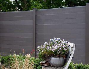 wpc bpc sichtschutzzaun inkl pfosten sichtschutz gartenzaun zaun terrasso neu ebay. Black Bedroom Furniture Sets. Home Design Ideas