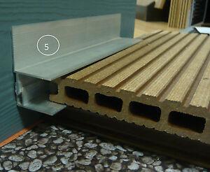 wpc timberstar terrassendielen wandanschlu wandprofil. Black Bedroom Furniture Sets. Home Design Ideas