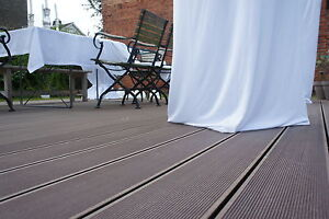 wpc terrassendielen 25 qm komplett bausatz diele dielen holz terrassendiele ebay. Black Bedroom Furniture Sets. Home Design Ideas