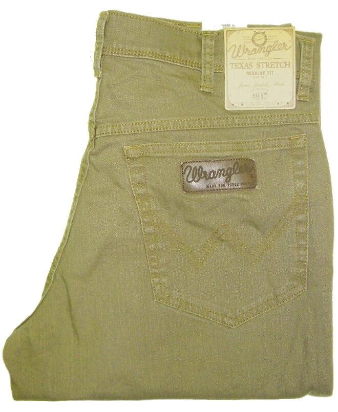 wrangler texas stretch in grau braun gr n beige blau khaki