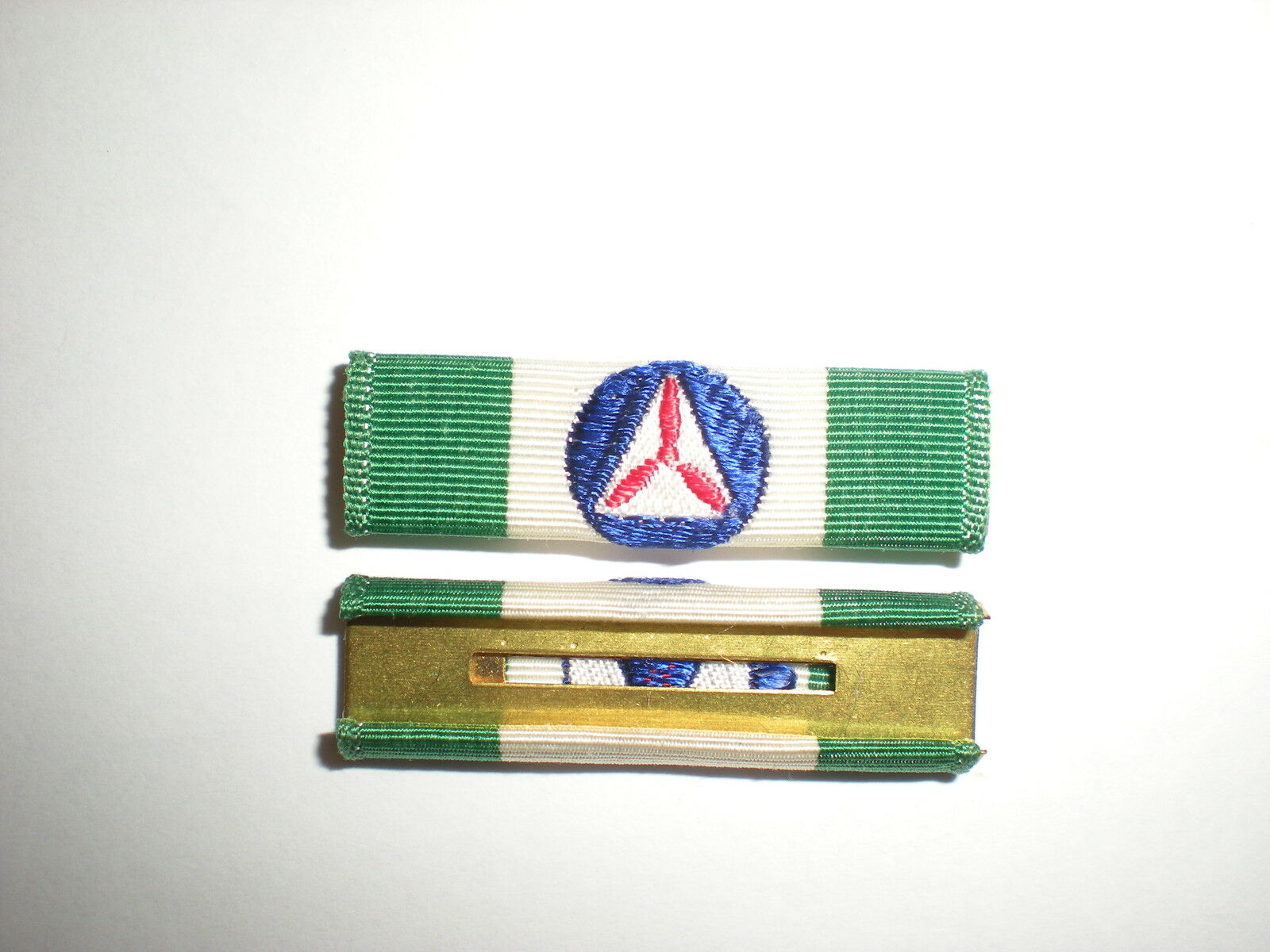 WWII CIVIL AIR PATROL GREEN SERVICE RIBBON   ORIGINAL CLOTH ON NEW