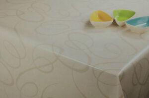 wachstuch tischdecke eckig rund oval abwaschbar linien creme beige k150136 ebay. Black Bedroom Furniture Sets. Home Design Ideas