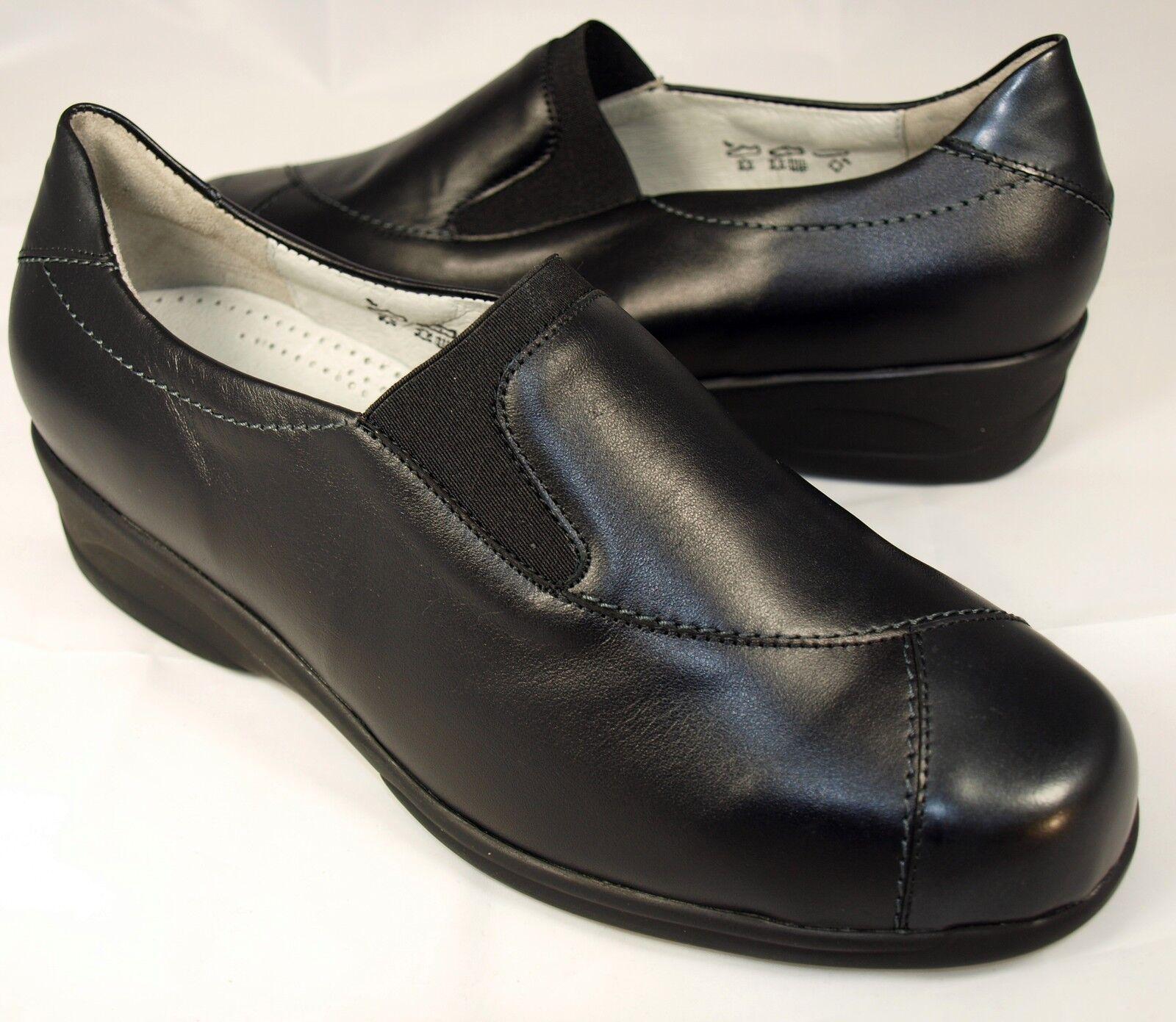 Details zu Sonderangebot Waldläufer Schuhe Slipper Damen Leder Weite K schwarz Neu 1263