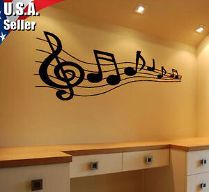 Wall Art Decor Removable Mural Vinyl Decal Sticker Musical Music ...