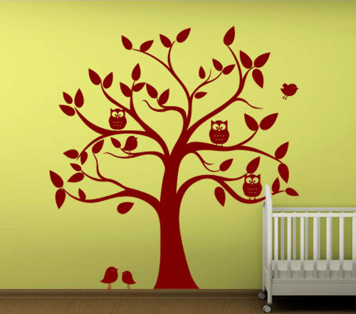 Wall Art Decor Removable Mural Vinyl Decal Sticker Nursery Kid's Owl Tree 455 in Home & Garden, Home Decor, Decals, Stickers & Vinyl Art | eBay
