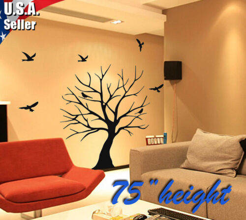 Wall Art Decor Removable Mural Vinyl Decal Sticker Tree Trunks With Birds 26 in Home & Garden, Home Decor, Decals, Stickers & Vinyl Art | eBay