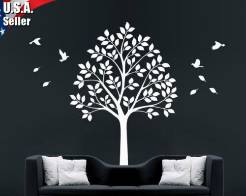 Wall Art Decor Removable Mural Vinyl Decal Sticker Tree With Flying Birds 345 in Home & Garden, Home Decor, Decals, Stickers & Vinyl Art | eBay
