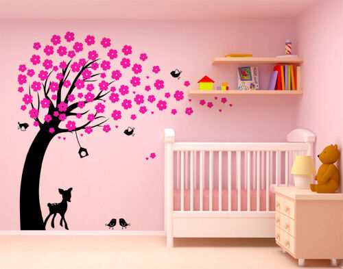 Wall Art Decor Removable Vinyl Decal Sticker Nursery Kid Cherry Blossom Tree 608 in Home & Garden, Home Decor, Decals, Stickers & Vinyl Art | eBay