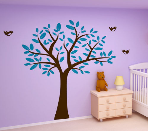Wall Art Decor Removable Vinyl Decal Sticker Nursery Kid Tree With Birds 309 in Baby, Nursery Decor, Wall Decor | eBay