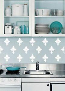wall decal french fleur de lis backsplash wallpaper border kitchen