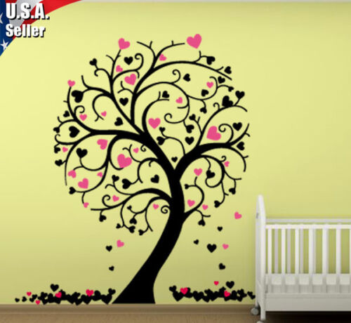 Wall Decor Art Removable Mural Vinyl Decal Sticker Nursery Kids Hearts Tree 228 in Home & Garden, Home Decor, Decals, Stickers & Vinyl Art | eBay