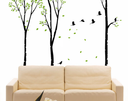 Wall Decor Art Vinyl Removable Mural Decal Sticker Birds Tree Truck Set of 4 601 in Home & Garden, Home Decor, Decals, Stickers & Vinyl Art | eBay