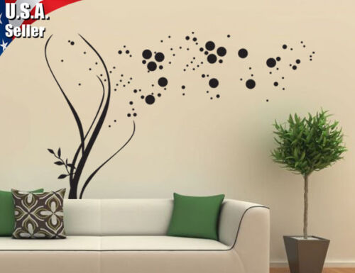 Wall Decor Removable Mural Art Vinyl Decal Sticker Curly Swirls Blowing 317 in Home & Garden, Home Decor, Decals, Stickers & Vinyl Art | eBay