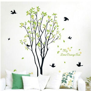 Wall Mural Decor Vinyl Sticker Tree and Bird Bedroom Living Room 60