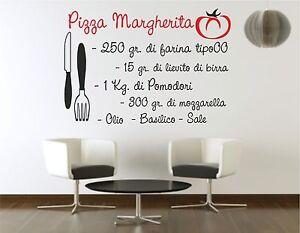 Wall sticker stickers adesivo murale frase ricetta pizza - Wall stickers per cucina ...