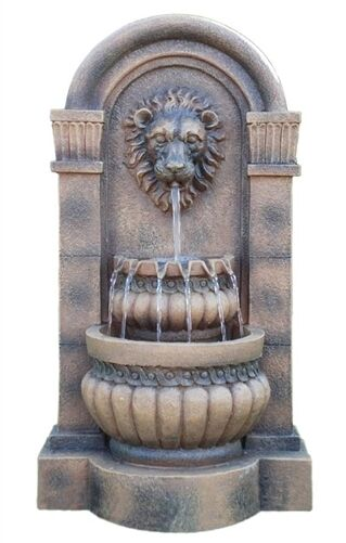 Wall Water Fountain Indoor Outdoor Modern Art Home Decor w Changing Color Light