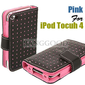 Wallet-Leather-Card-Holder-Flip-Case-Cover-Pouch-For-iPod-Touch-4-4G-NEW