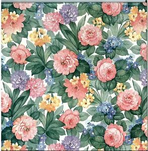ENGLISH STYLE FLORAL WALLPAPER COTTAGE STYLE | eBay