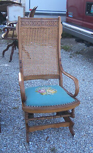 Antique Eastlake Platform Rocking Chair Beautiful - Furniture