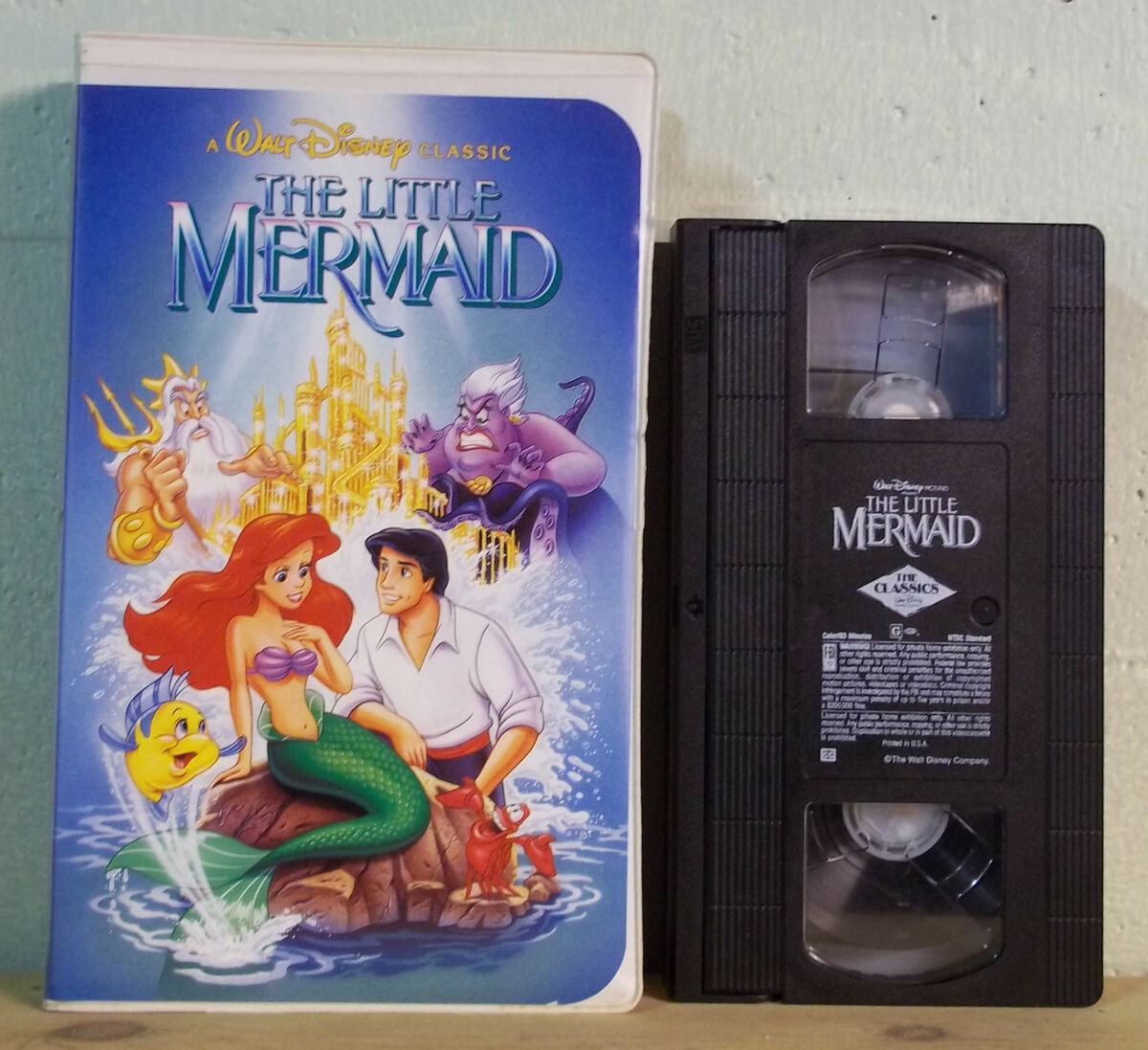 Walt Disney THE LITTLE MERMAID VHS #913 Clamshell Case Banned Phallic