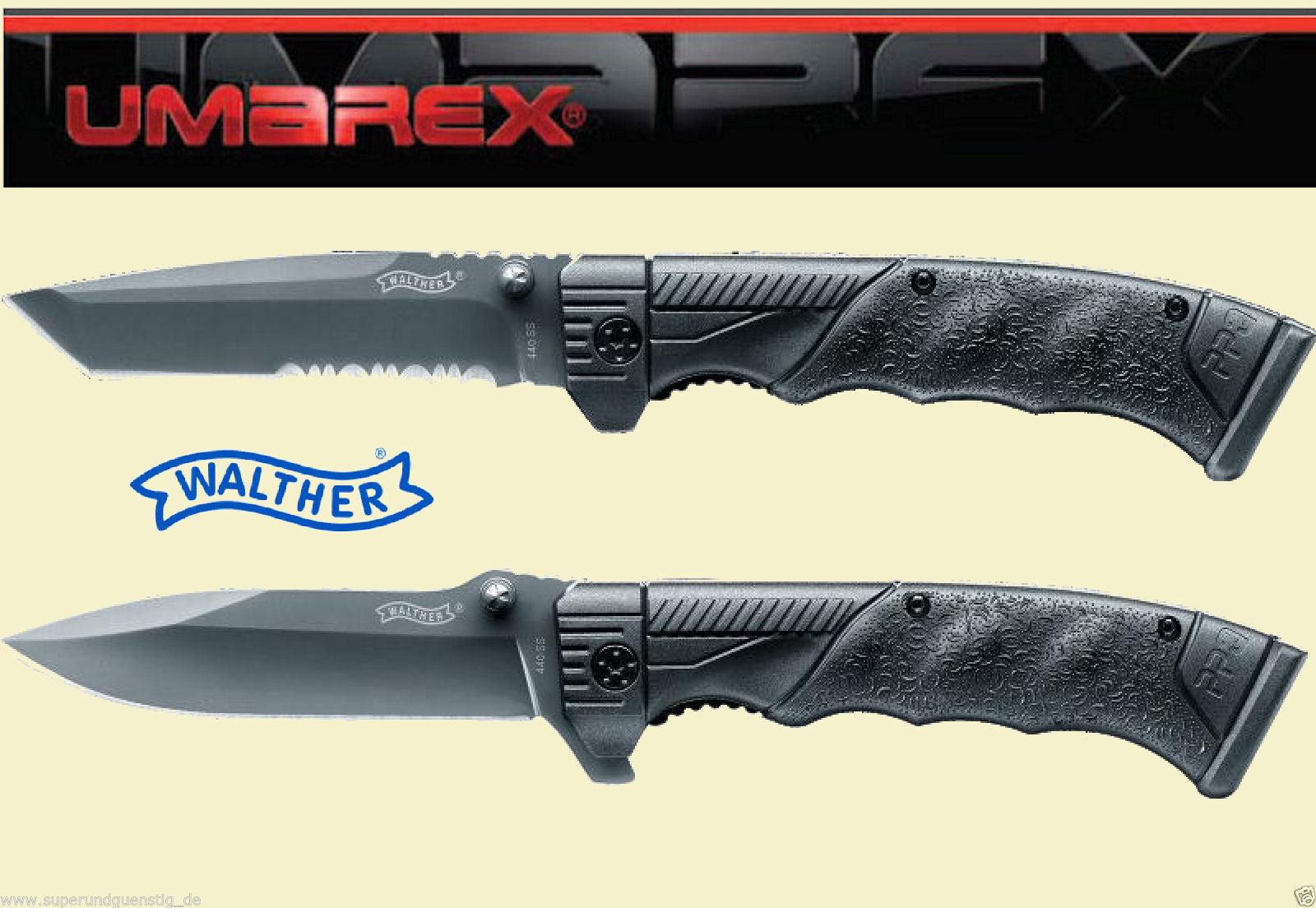 K Chen Walther walther ppq taschenmesser einhandmesser messer jagdmesser messer mit holster neu ebay