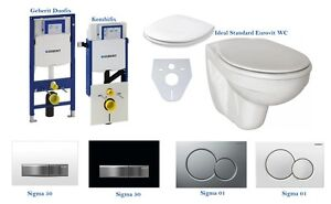 wand h nge wc set mit geberit duofix oder kombifix sigma50 sigma01 wc sitz ebay. Black Bedroom Furniture Sets. Home Design Ideas